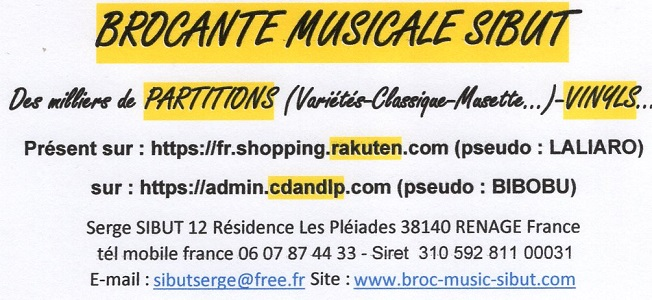 BROCANTE MUSICALE SIBUT